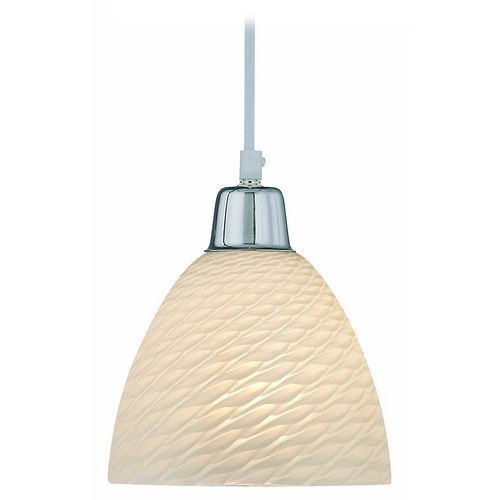Lite Source Lighting Mini-Pendant Light with White Glass LS-19836