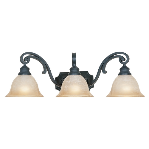 Designers Fountain Lighting Bathroom Light with Beige / Cream Glass in Natural Iron Finish 96103-NI