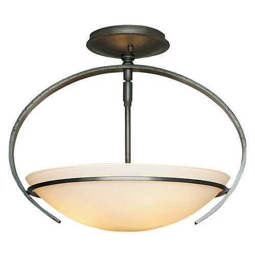 Natural Iron Semiflush Ceiling Light Fixture 12432220G47