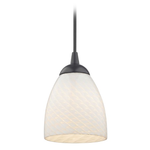 Design Classics Lighting Design Classics Gala Fuse Matte Black LED Mini-Pendant Light with Bell Shade 682-07 GL1020MB