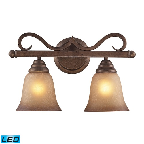 Elk Lighting Elk Lighting Lawrenceville Mocha LED Bathroom Light 9321/2-LED