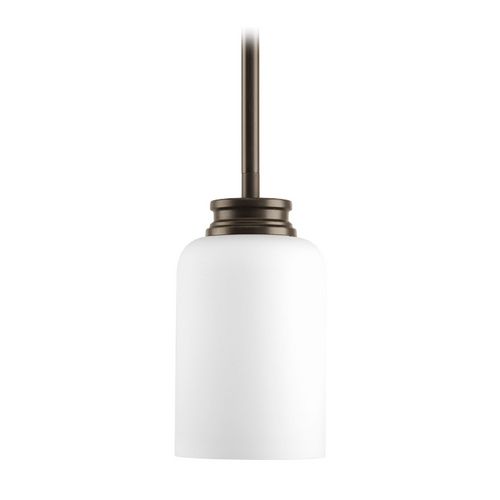 Progress Lighting Progress Mini-Pendant Light with White Glass P5114-20