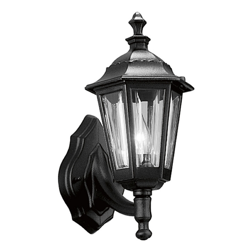 Progress Lighting Progress Outdoor Wall Light with Clear in Black Finish P5826-31