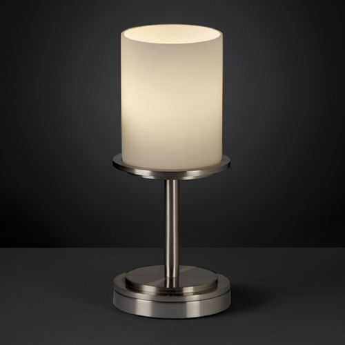 Justice Design Group Justice Design Group Fusion Collection Table Lamp FSN-8798-10-OPAL-NCKL