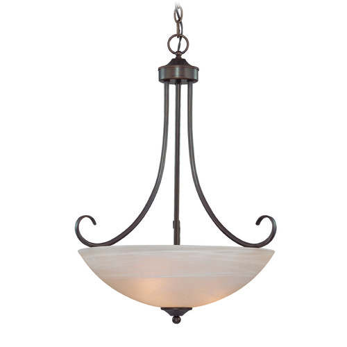 Craftmade Lighting Craftmade Raleigh Old Bronze Pendant Light with Bowl / Dome Shade 25323-OB