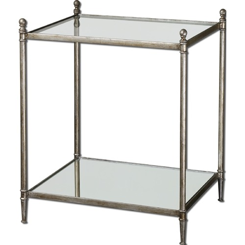 Uttermost Lighting Uttermost Gannon Mirrored Glass End Table 24282