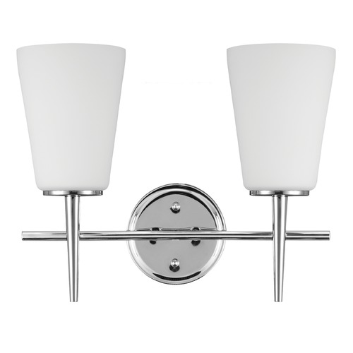 Sea Gull Lighting Sea Gull Lighting Driscoll Chrome Bathroom Light 4440402-05