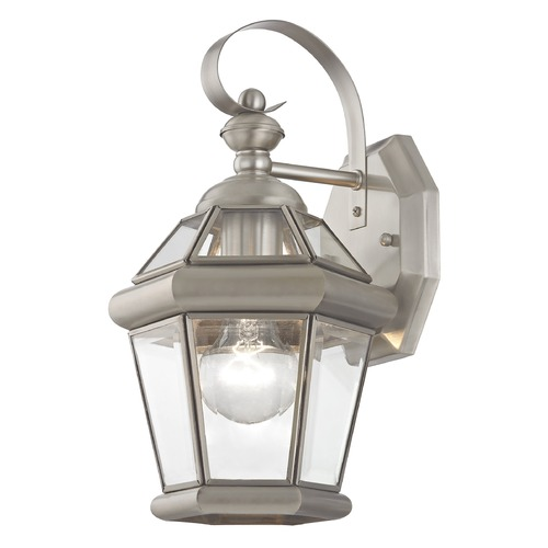 Livex Lighting Livex Lighting Georgetown Brushed Nickel Outdoor Wall Light 2061-91