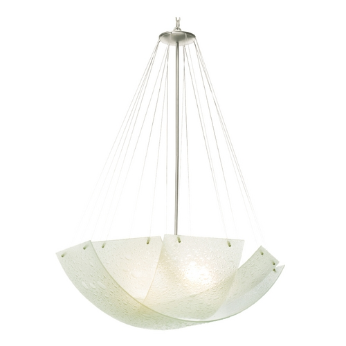 Kalco Lighting Kalco Lighting Cirrus Satin Nickel Pendant Light with Bowl / Dome Shade 5099SN