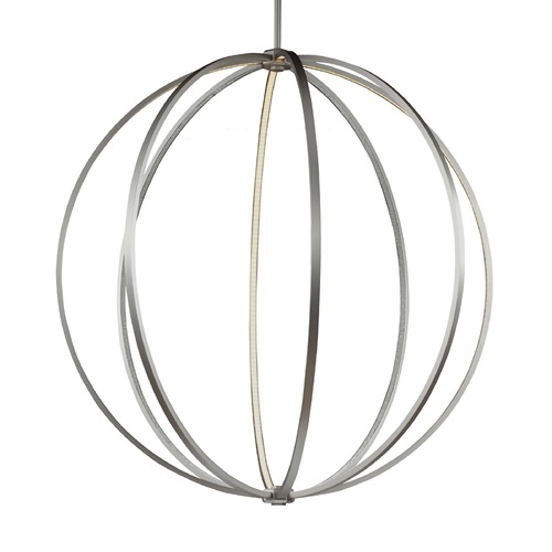 Feiss Lighting Feiss Lighting Khloe Satin Nickel LED Pendant Light P1412SN