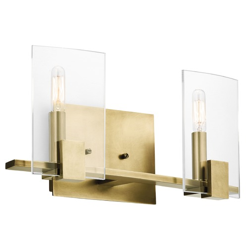 Kichler Lighting Kichler Lighting Signata Natural Brass Bathroom Light 45702NBR