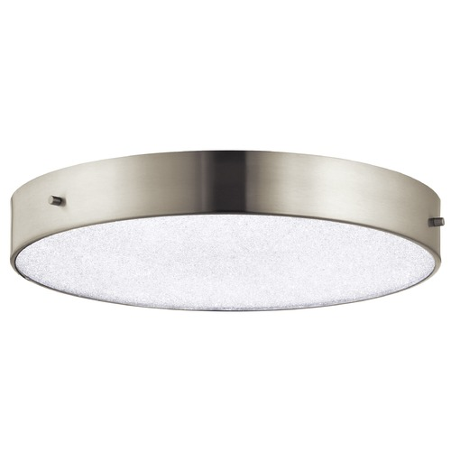 Elan Lighting Elan Lighting Crystal Moon Brushed Nickel LED Flushmount Light 83786