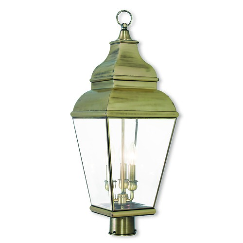 Livex Lighting Livex Lighting Exeter Antique Brass Post Light 2594-01