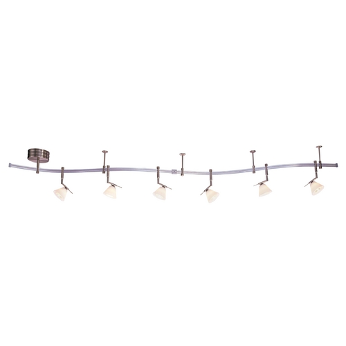 George Kovacs Lighting Nickel Finish Rail Light Kit with Six Lights - 10-Feet Long P4086-1-084