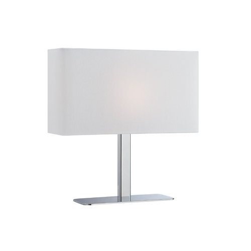 Lite Source Lighting Modern Console & Buffet Lamp with White Shade in Chrome Finish LS-21797C/WHT