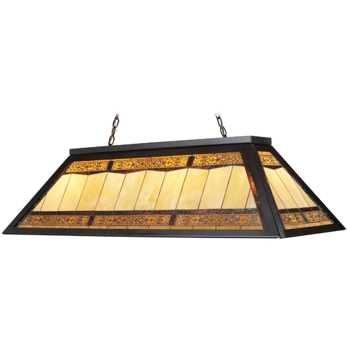 Elk Lighting Billiard Light with Tiffany Glass in Bronze Finish 70113-4