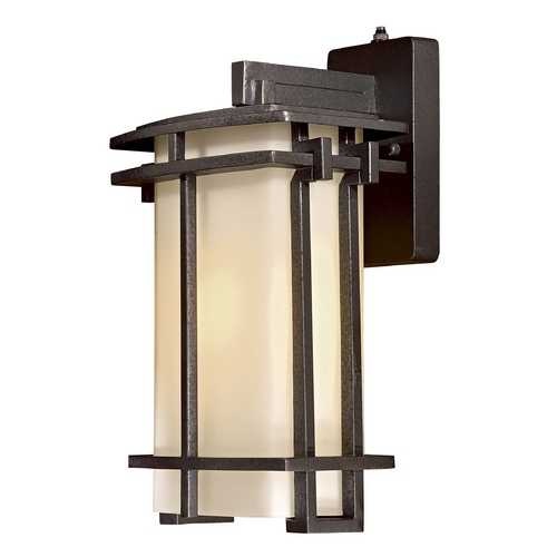 Minka Lavery Outdoor Wall Light with White Glass in Aluminum Finish 72012-A173-PL