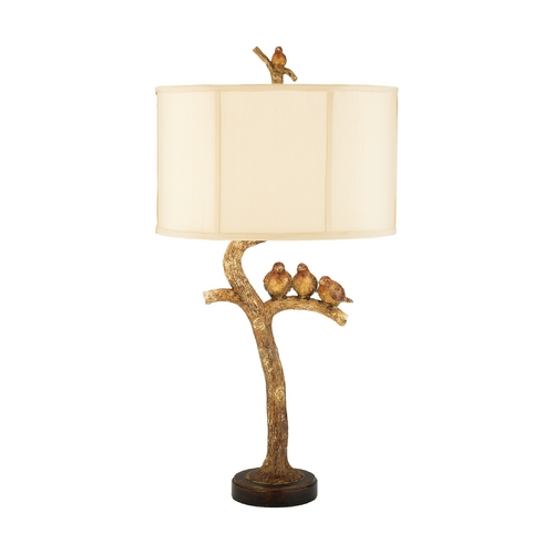 Elk Lighting Table Lamp with White Shade 93-052