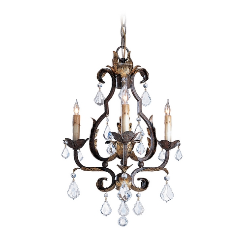 Currey and Company Lighting Mini-Chandelier in Venetian/gold Leaf/swarovski Crystal Finish 9829