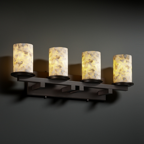 Justice Design Group Justice Design Group Alabaster Rocks! Collection Bathroom Light ALR-8774-10-DBRZ