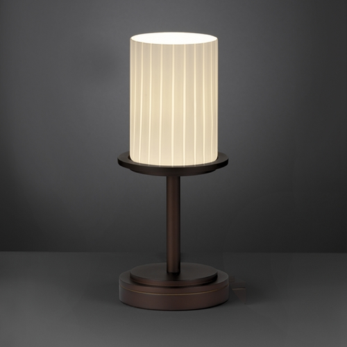 Justice Design Group Justice Design Group Fusion Collection Table Lamp FSN-8798-10-RBON-DBRZ