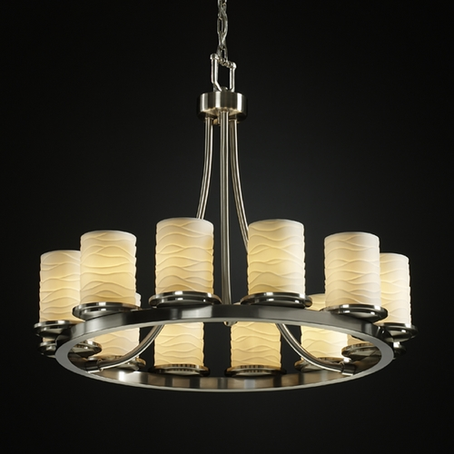 Justice Design Group Justice Design Group Limoges Collection Chandelier POR-8768-10-WAVE-NCKL