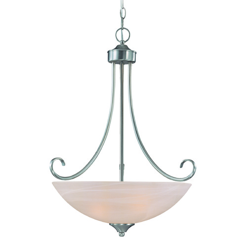 Jeremiah Lighting Jeremiah Raleigh Satin Nickel Pendant Light with Bowl / Dome Shade 25323-SN
