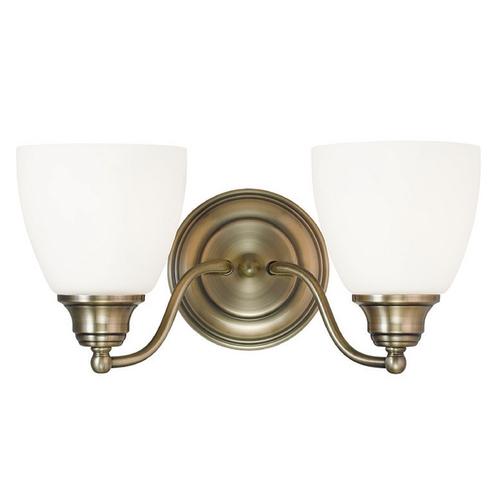 Antique Brass Bathroom Lighting: Livex Lighting Somerville Antique Brass Bathroom Light