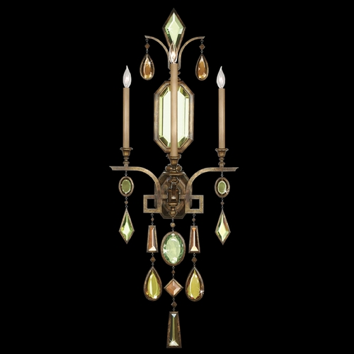Fine Art Lamps Fine Art Lamps Encased Gems Bronze Patina Sconce 710450-1ST