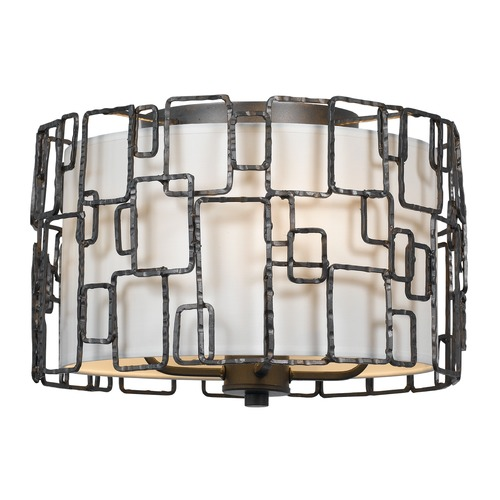 Crystorama Lighting Crystorama Lighting Lattice Raw Steel Flushmount Light 324-RS