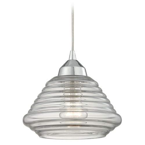 Elk Lighting Elk Lighting Orbital Polished Chrome Mini-Pendant Light with Bowl / Dome Shade 10424/1