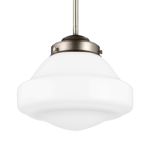 Feiss Lighting Feiss Alcott Satin Nickel Mini-Pendant Light P1377SN