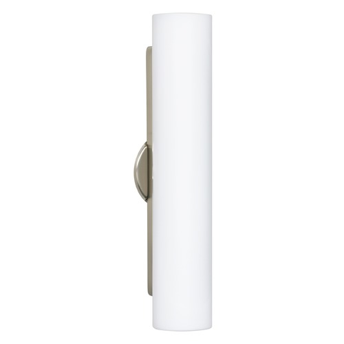 Besa Lighting Besa Lighting Baaz Satin Nickel LED Sconce 786007-LED-SN