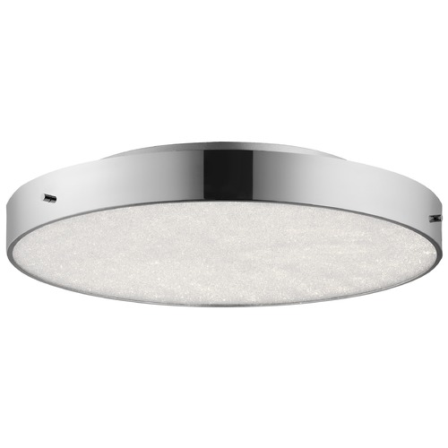 Elan Lighting Elan Lighting Crystal Moon Chrome LED Flushmount Light 83589