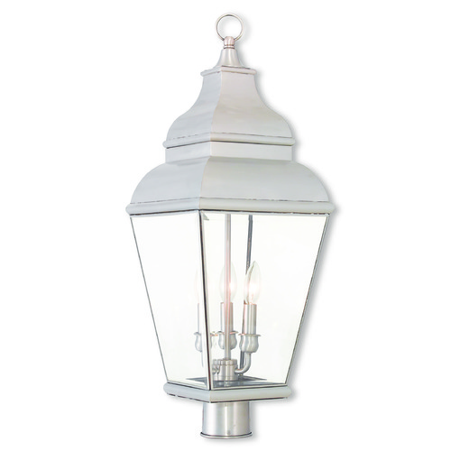 Livex Lighting Livex Lighting Exeter Brushed Nickel Post Light 2594-91