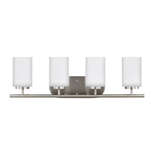 Sea Gull Lighting Sea Gull Lighting Oslo Brushed Nickel Bathroom Light 41163-962