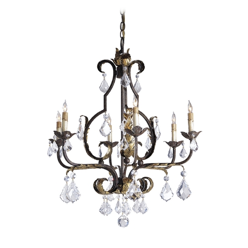 Currey and Company Lighting Chandelier in Venetian/gold Leaf/swarovski Crystal Finish 9828