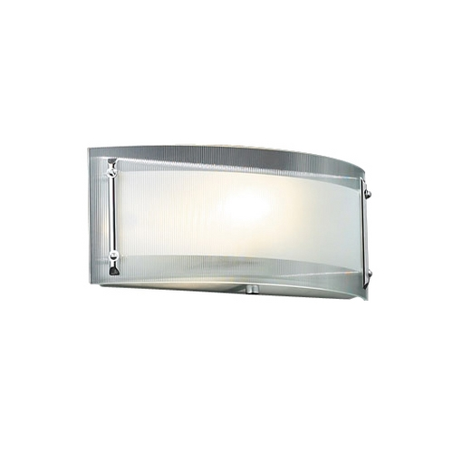 PLC Lighting Modern Sconce Wall Light with Clear Glass in Polished Chrome Finish 7812 PC