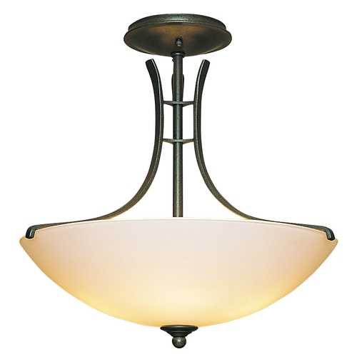 Hubbardton Forge Lighting Three-Light Semi-Flush Ceiling Light 126432-20-S52