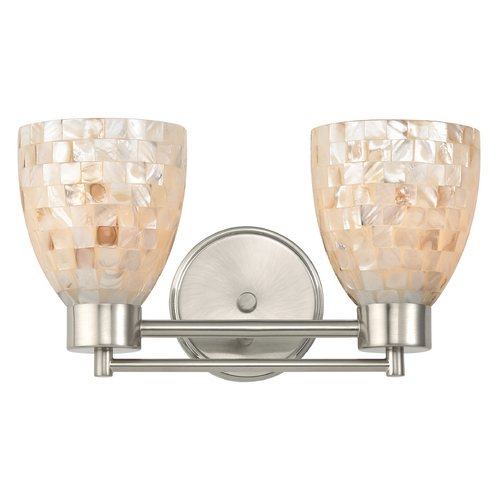 Design Classics Lighting Bathroom Light with Mosaic Glass Glass in Satin Nickel Finish 702-09 GL1026MB