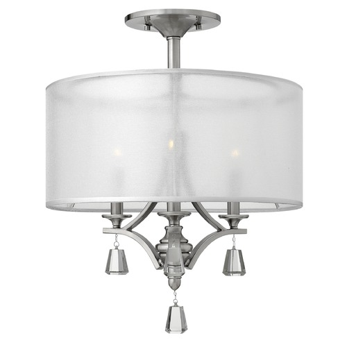 Fredrick Ramond Frederick Ramond Mime Brushed Nickel Semi-Flushmount Light FR45601BNI