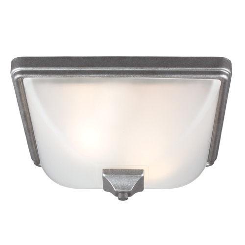 Sea Gull Lighting Sea Gull Lighting Irving Park Weathered Pewter Close To Ceiling Light 7828402-57
