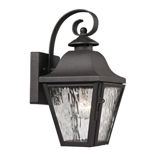 Elk Lighting Outdoor Wall Light with Clear Glass in Charcoal Finish 47100/1