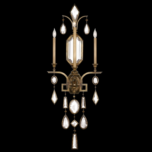 Fine Art Lamps Fine Art Lamps Encased Gems Bronze Patina Sconce 710450-3ST