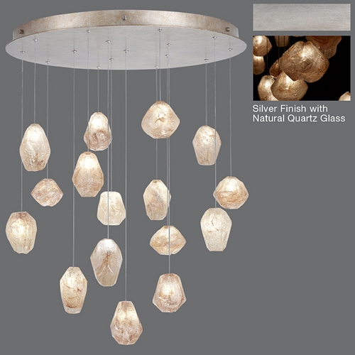 Fine Art Lamps Fine Art Lamps Natural Inspirations Silver Leaf Multi-Light Pendant 862840-14ST