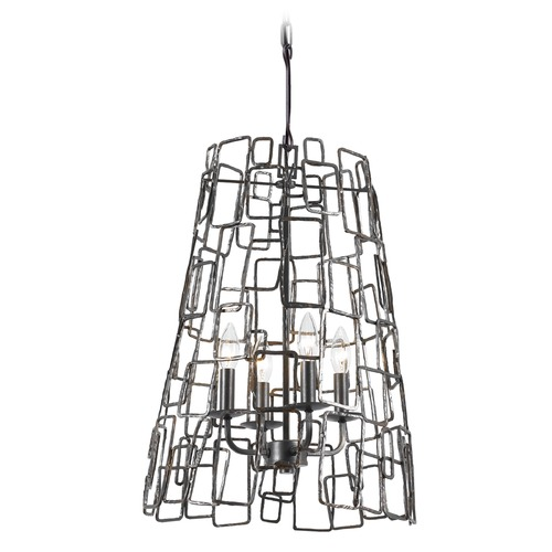 Crystorama Lighting Crystorama Lighting Lattice Raw Steel Pendant Light 325-RS