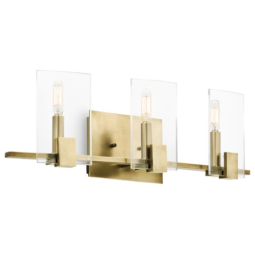 Kichler Lighting Kichler Lighting Signata Natural Brass Bathroom Light 45703NBR