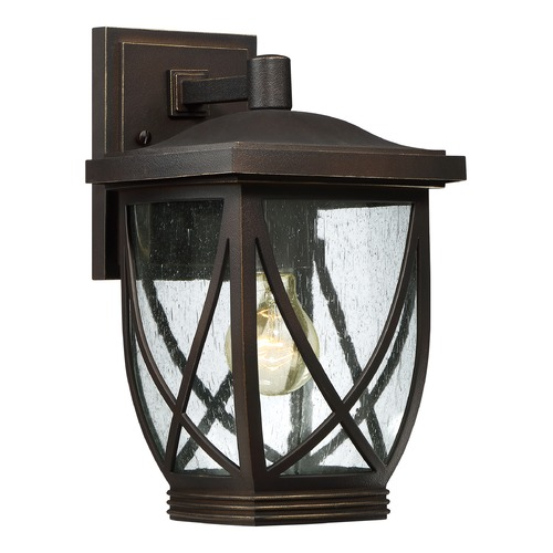 Quoizel Lighting Quoizel Tudor Palladian Bronze Outdoor Wall Light TDR8408PN