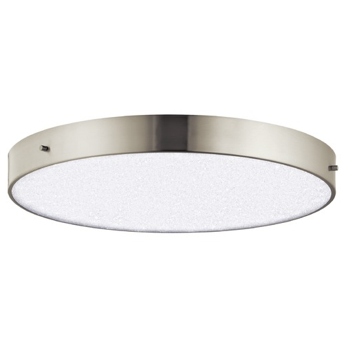 Elan Lighting Elan Lighting Crystal Moon Brushed Nickel LED Flushmount Light 83787