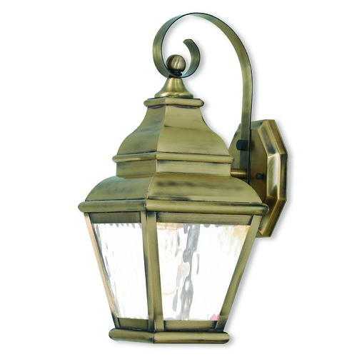 Livex Lighting Livex Lighting Exeter Antique Brass Outdoor Wall Light 2601-01